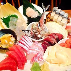刺身 神楽坂の魚金にて♡ お刺身+日本酒は最高…