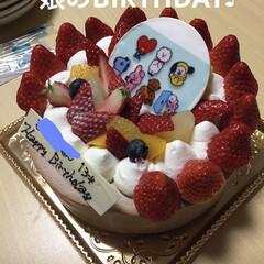 バースデーケーキ/スイーツ 今日は娘の誕生日🎂 早いものでもう13歳😆