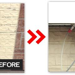 サイディング/外壁/塗装/補修/修理/修繕/... 外壁サイディングの剥がれ・破損補修及び塗装
