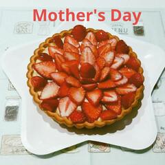 いちごタルト/いちご/母の日/スイーツ/キッチン/フード/... 母の日 いちごのタルトを作りました