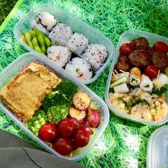ピクニック/フォロー大歓迎/LIMIAファンクラブ/お弁当/至福のひととき/LIMIAごはんクラブ/... 旦那さんと息子とピクニック。 お天気も最…