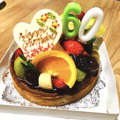 お誕生日会/還暦/フォロー大歓迎/冬/おうち/ごはん/... 先日、母の誕生日でした。 還暦なので、み…