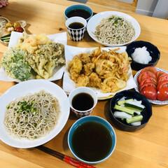 天ぷら/そば/和食/献立/おうちごはん/ランチ/... 最近の我が家は天ぷらブーム! 自粛生活で…