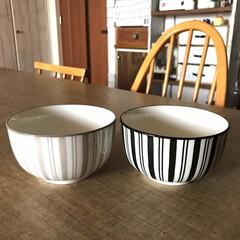 食器/キャンドゥ新商品/キャンドゥ/キッチン雑貨/おしゃれ/暮らし/... キャンドゥ新商品、「縦縞のどんぶり茶碗」…(1枚目)