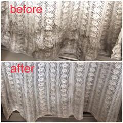 コストコ オキシクリーン 4.98kg 原産国アメリカ | コストコ(漂白剤)を使ったクチコミ「和室側のカーテン…放っておいたら、カビと…」(1枚目)