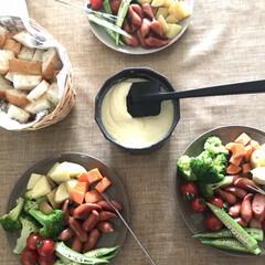 チーズフォンデュ/おうちカフェ/キッチン雑貨/おうちごはん/ランチ/雑貨/... 家族でチーズフォンデュ♪ウィンナーや野菜…