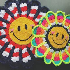 panda@factory/smile/スマイル/ニコちゃん/ハンドメイド/フォロー大歓迎/... 見てるだけで笑顔になれそうなスマイルカラ…