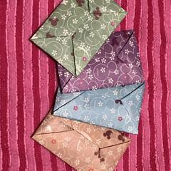 柄物折り紙/ポチ袋手作り/お年玉袋手作り/ポチ袋/折り紙/お年玉袋/... 折り紙でポチ袋を折りました