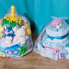 プレゼント/出産祝い/おむつケーキ/ハンドメイド 友達の出産祝いに(´˘`*)   Mサイ…