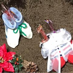 スターオブジェ/クリスマスブーツ/クリスマスリース/フォロー大歓迎/クリスマス/ハンドメイド/... 友達がクリスマスリースを作ってみたいと言…(7枚目)