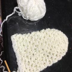 ポシェット/毛糸/かぎ針編み/初めてのDIY/ハンドメイド/DIY/... お母さんに教わりながらポシェットを作って…(2枚目)