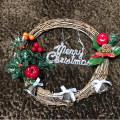 スターオブジェ/クリスマスブーツ/クリスマスリース/フォロー大歓迎/クリスマス/ハンドメイド/... 友達がクリスマスリースを作ってみたいと言…(3枚目)
