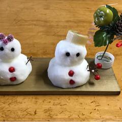 板/混ぜるだけ/オシロイバナの種/塩/雪だるまを作ろう/フォロー大歓迎/... お庭やお家にあるもので雪だるまを🎶   …(2枚目)