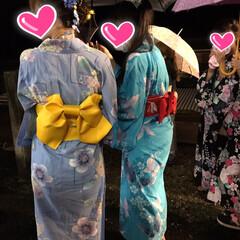 浴衣/髪飾り出番です/夏コーデ/ファッション 15日の夜は地区の盆踊り大会へ   6人…(3枚目)