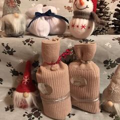 ボトル風/ラッピングDIY/靴下/フォロー大歓迎/クリスマス/Xmas/... クリスマスディスプレイ     靴下で…