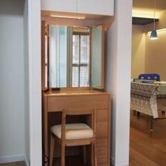 ドレッサー/置き家具/吊戸棚 お気に入りのドレッサー鏡台がピッタリ納ま…