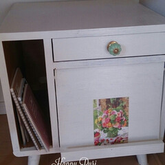 DIY/家具/ペンキ/ミルク/つまみ/チェスト こんにちは。 組み立て式のオーソドックス…