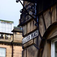 海外/旅/窓/街並/スコットランド/おでかけ/... エディンバラ中心部の南半分オールドタウン…