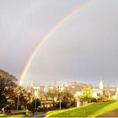 雲/海外/旅の思い出/旅/スコットランド/虹/... 今のところ人生最大の虹は、やはり別名虹の…
