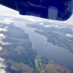 旅の思い出/海外/スコットランド/飛行機/航空写真 スコットランド西海岸はぎざぎざの海岸線が…