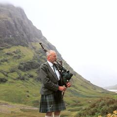 山/霧/バグパイプ/スコットランド/おでかけ ゾッとするほど美しい場所というものがある…