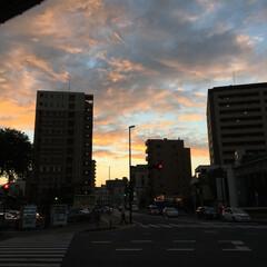 空/雲/夕焼け 夕焼け