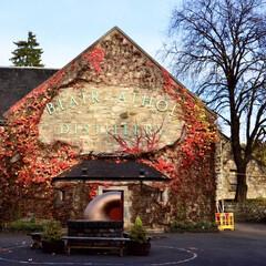 蒸留所/ウイスキー/蔦/紅葉/秋/スコットランド/... 蔦の蒸留所、ブレアアソール蒸留所の秋。
