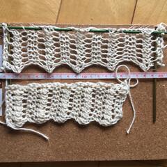 編み物/ニッティング/シェトランド/シェトランドレース/無垢綿/シェットランド/... シェトランドレースパターン、編んだだけと…
