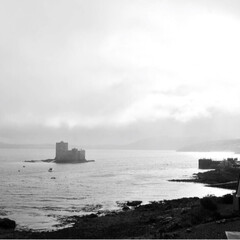 空/海/お城/城/スコットランド/おでかけ キシムル城の眺め。天気は刻一刻と変わり、…(2枚目)