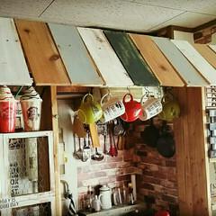 DIY/カフェ風インテリア/100均/セリア/ダイソー/ハンドメイド201606 カフェ風屋根付きキッチンカウンター♪
