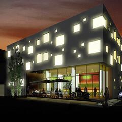 集合住宅/4建築設計事務所/ランダム 濱田設計測量事務所との共同設計による、大…