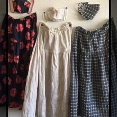 無理/マスク/スカート/夏/ハンドメイド/おしゃれ 毎年 同じデザインのスカート作ってます😊…