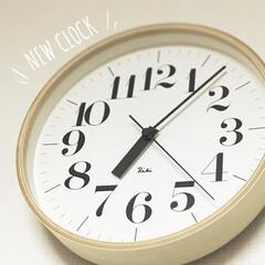 掛け時計 RIKI リキクロック 太字 M リキ riki 渡辺 力 時計 壁掛け時計 | 渡辺力(掛け時計、壁掛け時計)を使ったクチコミ「リビングの掛け時計を買い替えました」(1枚目)