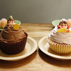 おうちカフェ/スイーツ/ペコちゃん/ポコちゃん/不二家/ケーキ/... ささやかなひな祭り🎎  不二家のポコちゃ…