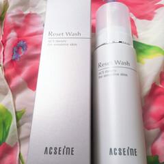 リセット ウォッシュ   アクセーヌ(その他洗顔料)を使ったクチコミ「泡で出て来る洗顔料、アクセーヌ リセット…」(1枚目)