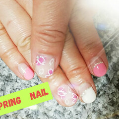 春ネイル/ファッション 桜🌸 ポカポカ陽気に目を覚まし始めました…