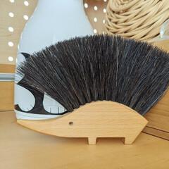 REDECKER はりねずみのテーブルブラシ レデッカー ブラシ(掃除用ブラシ)を使ったクチコミ「レデッカーのテーブルブラシ。 ハリネズミ…」