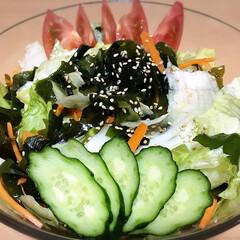 レタス/🍘/サラダ/チョレギサラダ/おうちごはん/DIY/... 🥗チョレギサラダ🎵 (゚д゚)ウ-(゚Д…