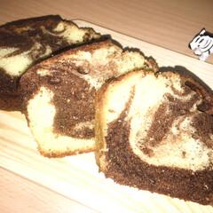 牛乳パック/マーブルケーキ/マーブル/パウンドケーキ/ケーキ/DIY/... パウンドケーキは、よく作るのですが、マー…