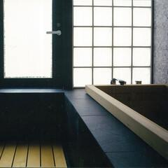 浴室・風呂 調布の家ひのき浴槽