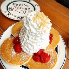 パンケーキ/エッグベネディクト/Eggs'n Things/令和元年フォト投稿キャンペーン/令和の一枚/フォロー大歓迎/... 今日はエッグベネディクトとパンケーキを食…