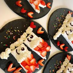 こいのぼりケーキ/こどもの日/春のフォト投稿キャンペーン/ありがとう平成/令和の一枚/フォロー大歓迎/... 子供の日🎏 サンドイッチ用パンに生クリー…