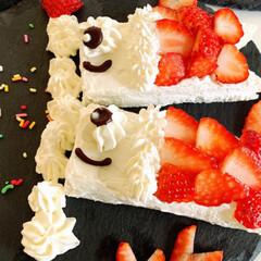 こいのぼりケーキ/こどもの日/春のフォト投稿キャンペーン/ありがとう平成/令和の一枚/フォロー大歓迎/... 子供の日🎏 サンドイッチ用パンに生クリー…(2枚目)