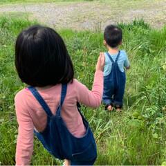 オーバーオール/リンクコーデ/こいのぼり/春のフォト投稿キャンペーン/ありがとう平成/令和の一枚/... 今日はいいお天気だったので 近所の河川敷…(4枚目)