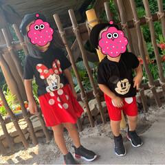 ミニーマウス/ミッキーマウス/ディズニーランド/旅行/フォロー大歓迎/LIMIAファンクラブ/... 旅行3日目はランドへ🏰 今日の子供達はミ…