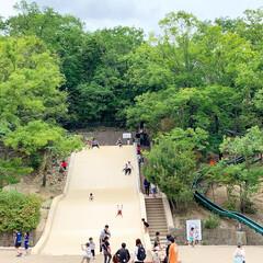 滑り台/家族でお出かけ/公園/LIMIAおでかけ部/おでかけ/おでかけワンショット この前の週末 少し遠くの大きな公園へ遊び…
