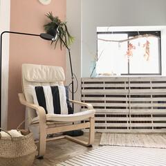 ヘリンボーン床/床リメイク/ドリームステッカー/DreamSticker/漫画収納/本棚/... 我が家のフリースペース♡ IKEAの椅子…