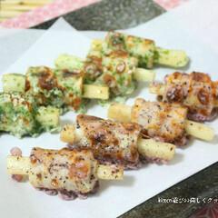 磯辺揚げ/長芋/竹輪/レシピ ガーリック風味の下味に漬けた長芋を竹輪に…