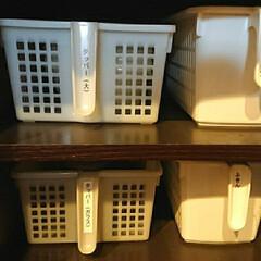 タッパー収納/タッパー/収納/キッチン収納 タッパーはサイズがいろいろあるので、我が…(1枚目)