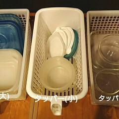 タッパー収納/タッパー/収納/キッチン収納 タッパーはサイズがいろいろあるので、我が…(2枚目)